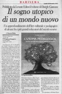 Articolo su Barisera---L'utopia-pedagogica---Levante Editori