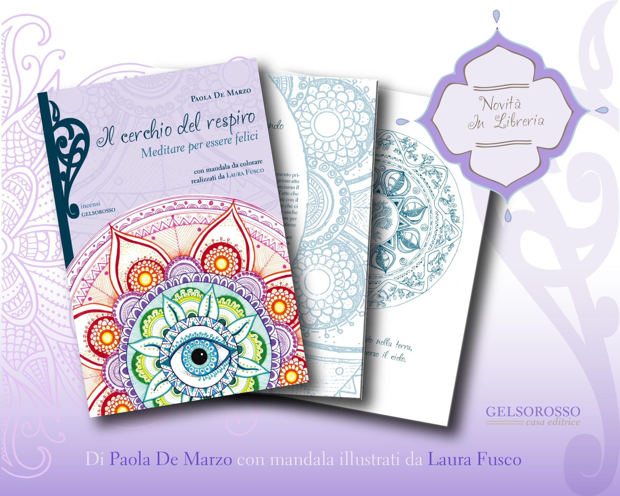 Un libro sulla meditazione con Mandala illustrati da Laura Fusco